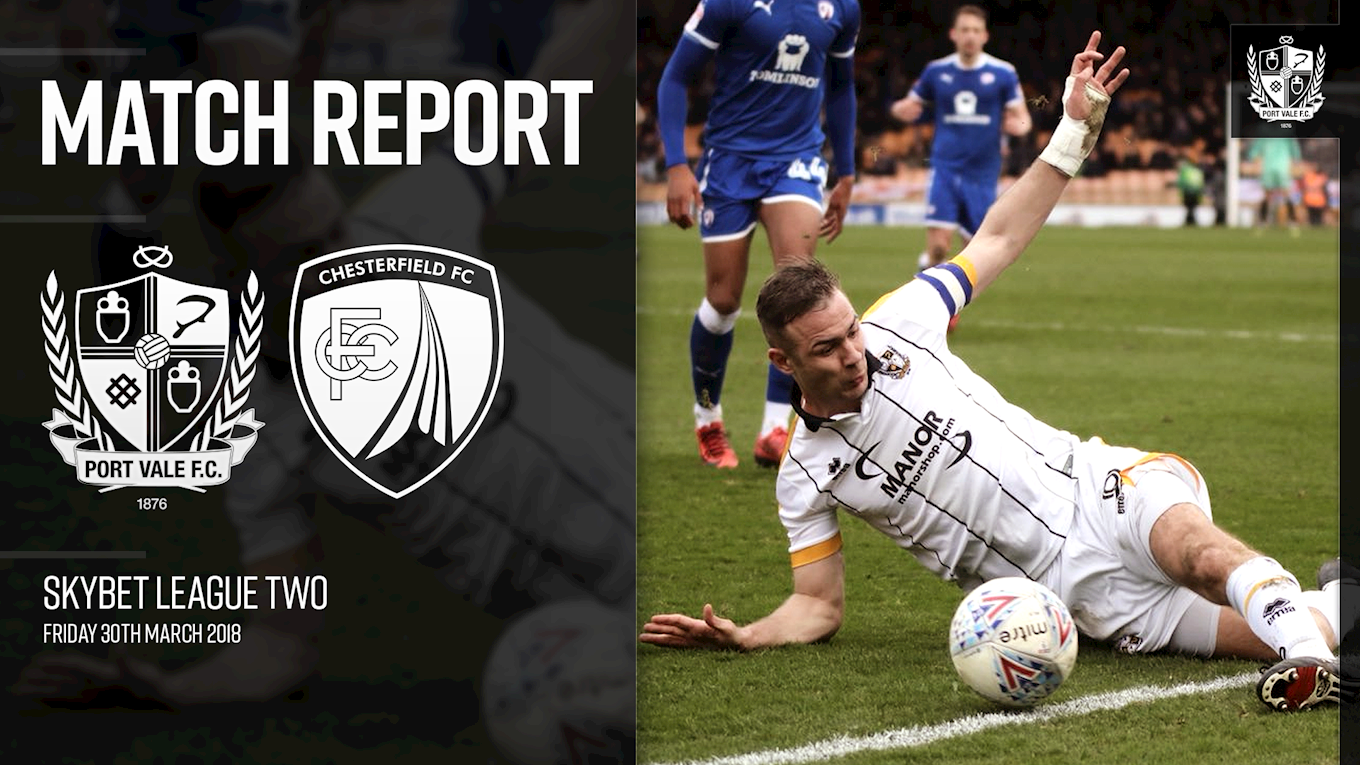MATCH REPORT: Port Vale 2-1 Chesterfield - News - Port Vale
